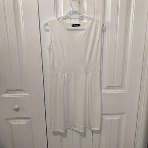 White slip fit flair dress sleeveless cover up